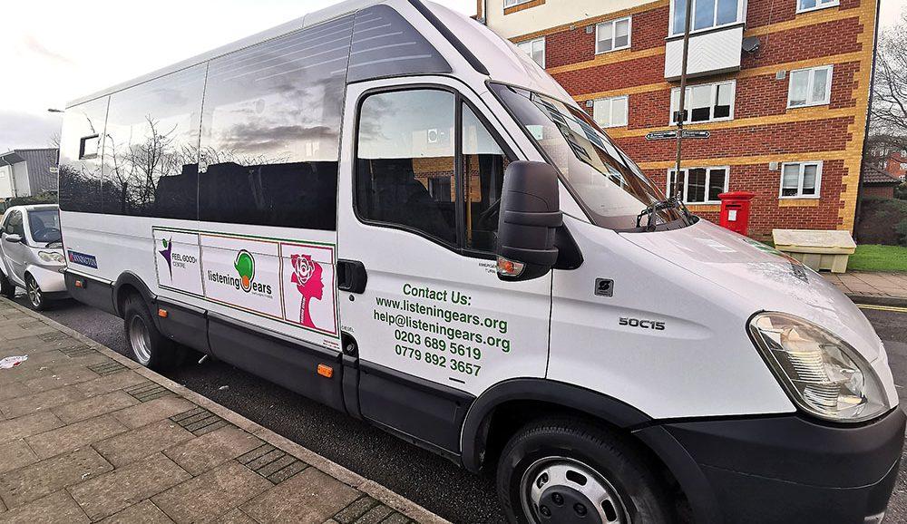 listening ears charity minibus