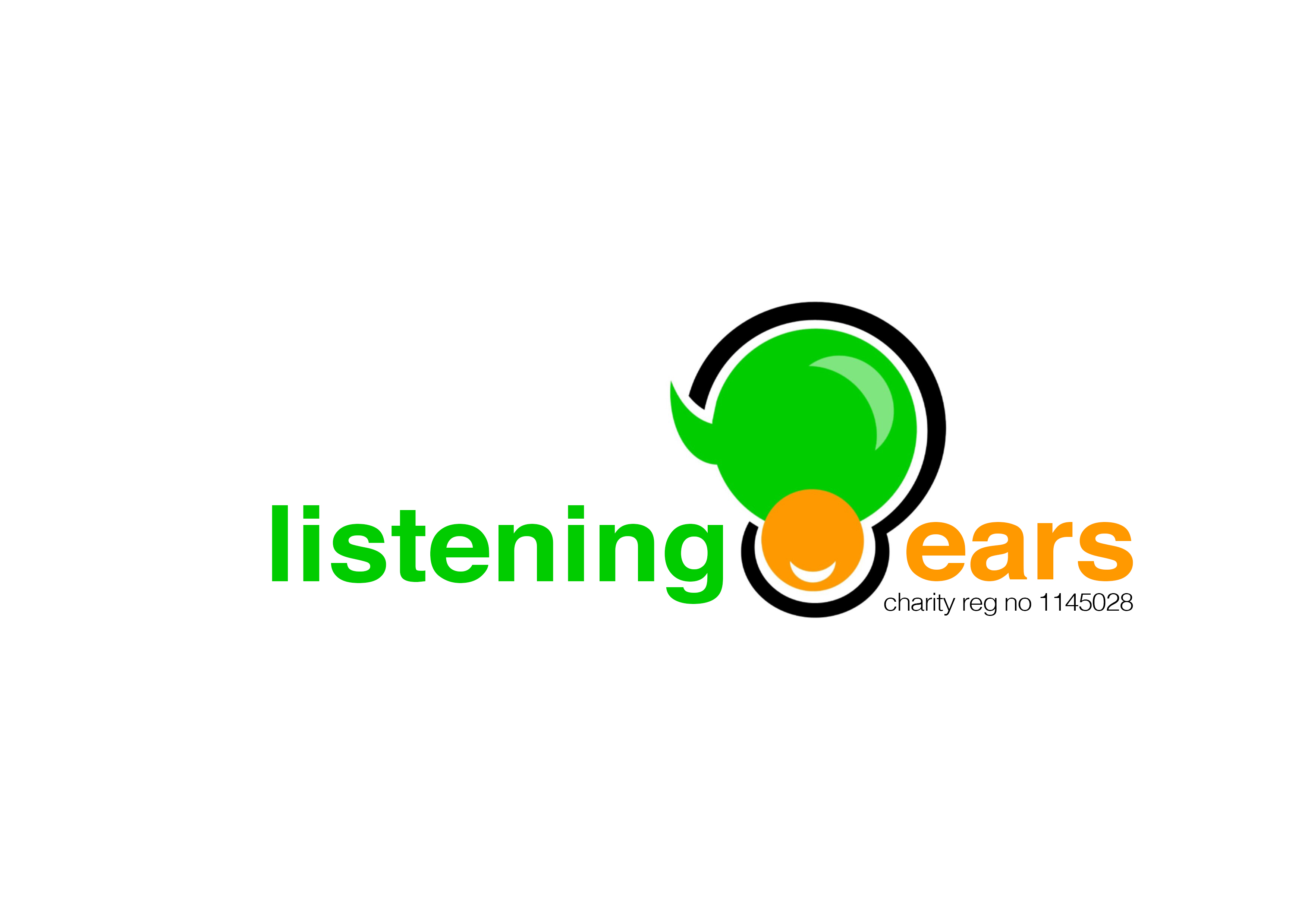 Listening Ears black and white logo - web size